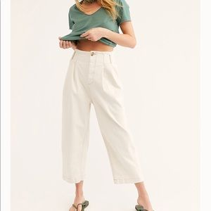 Free People Pleated Carrot Jeans